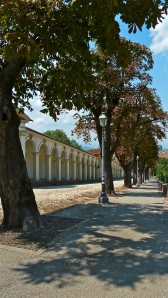 The porticos toward Monte Berico - Vicenza, IT