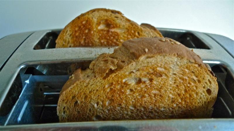Toasted Italian rustic sandwich bread