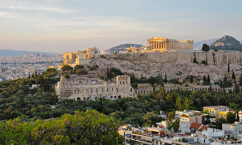 The Acropolis as viewed from the Mouseion Hill - June 11, 2011 - Christophe Meneboeuf - http://photoblog.pixinn.net