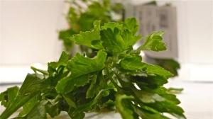 Fresh parsley waiting to be chopped
