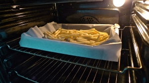 French Fries/Chips into the oven they go