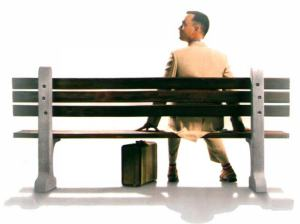 Forrest Gump at the bus stop | ©Paramount Pictures