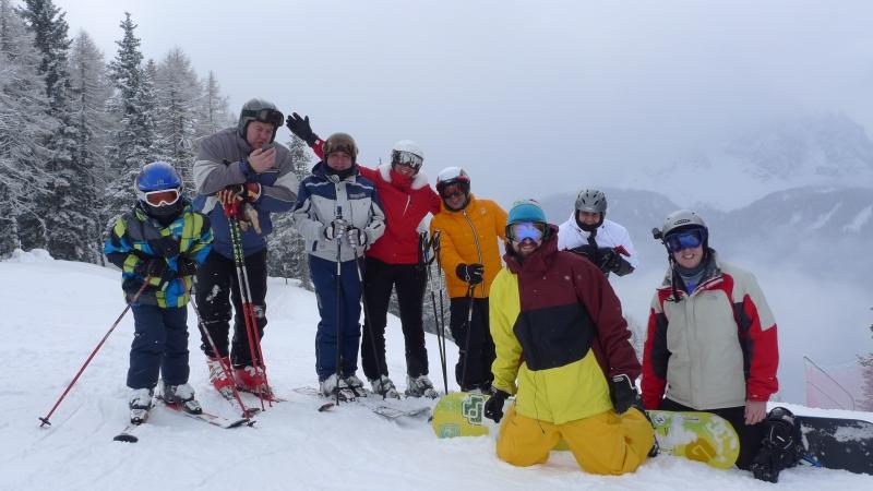 Ski Trek Villabassa 2013 - Group shot - Monte Elmo