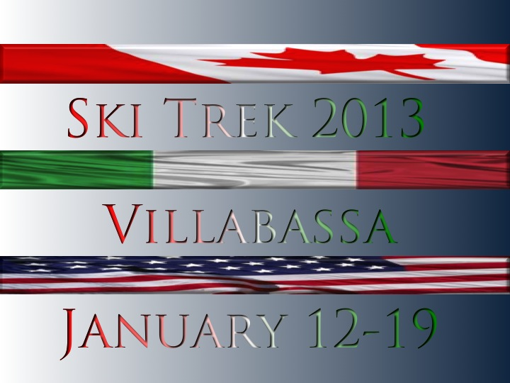 Ski Trek Villabassa 2013 graphic | ©Tom Palladio Images