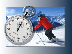 Ski race timer graphic | ©Tom Palladio Images