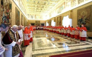 The Pope with the College of Cardinals