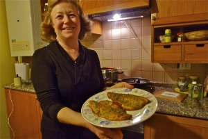 Lori and a plate of red trout | © Tom Palladio Images