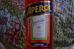 Aperol bottle label