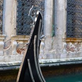 Ornate bow on a Venetian gondola   ©Tom Palladio Images