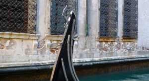 Ornate bow on a Venetian gondola | ©Tom Palladio Images