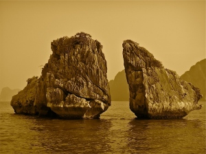 "The ""Kissing Rocks"" -- Ha Long Bay, Vietnam 