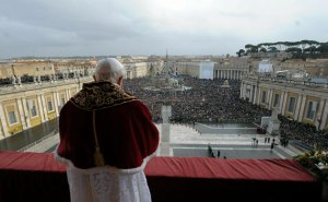 Pope Benedict XVI addresses the crowd in St. Peter's Square - Rome, IT