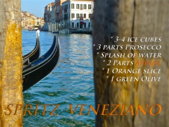 Spritz Veneziano recipe graphic | ©Tom Palladio Images