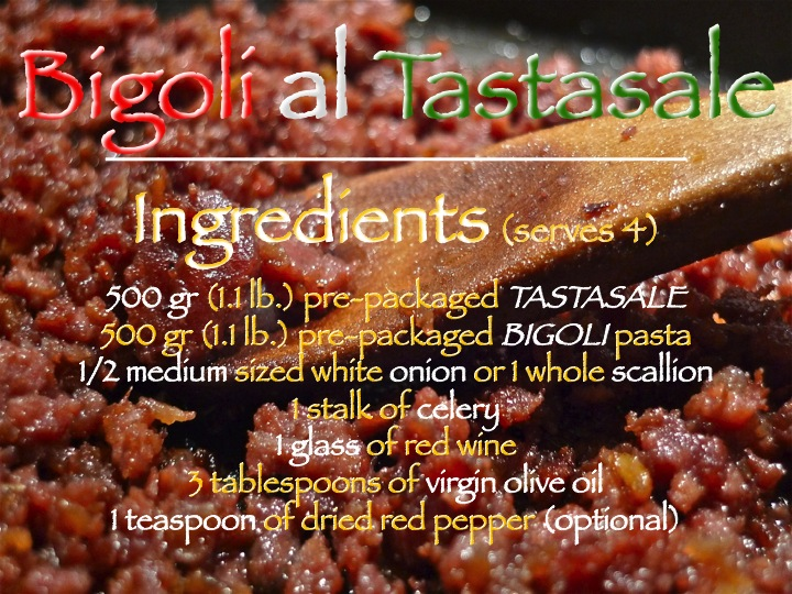 Bigoli al Tastasale ingredients graphic | ©Tom Palladio Images