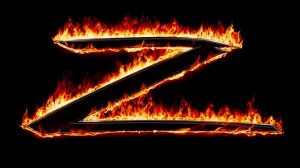 Burning Z graphic from The Mask of Zorro | ©Amblin Entertainment