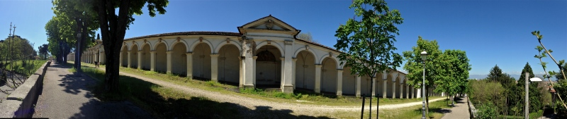 Panoramic view of covered archway up Monte Berico - Vicenza, Italy   ©Tom Palladio Images