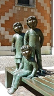 Bronze Children on a Bench - Church of the Carmine - Vicenza, IT | ©Tom Palladio Images