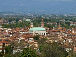 Panoramic view of the Centro Storico - Vicenza, Italy | ©Tom Palladio Images