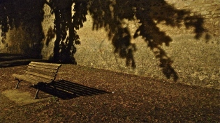 Dark Shadows Bench - Norcia, IT | ©Tom Palladio Images
