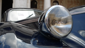 Headlamp of '39 Fiat Superleggera Sport Coupe - Vicenza, Italy | ©Tom Palladio Images