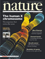 Mar. 2005 Nature Journal cover | ©2005 Nature Journal