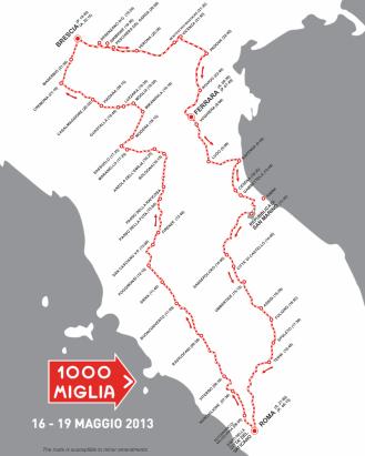 1000 Miglia course map