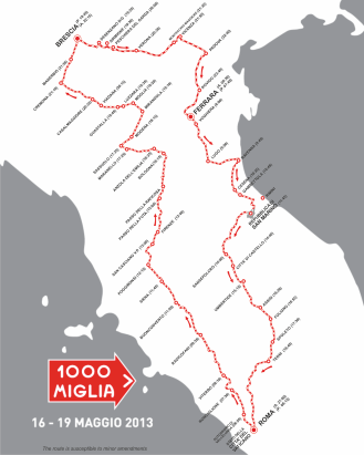 1000 Miglia course map