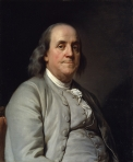 Portrait of BenFranklin circa 1785 by Duplessis