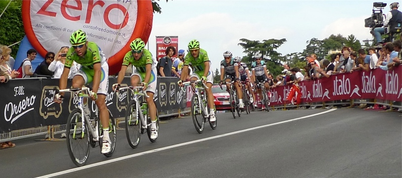 Lookin' good in lime green - Giro d'Italia 2013 | ©Tom Palladio Images