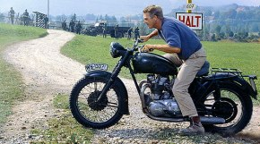 Mcqueen on bike in The Great Escape
