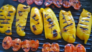 Peppers and tomatoes on the grill   ©Tom Palladio Images