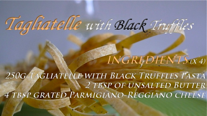Tagliatelle with Black Summer Truffles recipe graphic | ©Tom Palladio Images