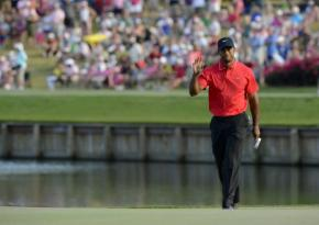 Tiger Woods at TPC  | photo @2013 Erik Lesser/EPA