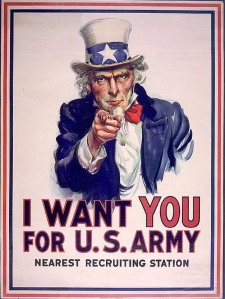 Uncle Sam-US Army recruiting poster