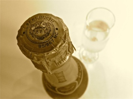 A bottle of bubbly in sepia | ©Tom Palladio Images