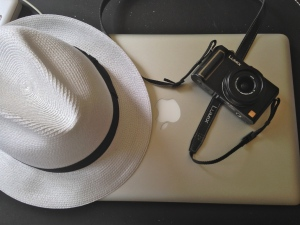 TPT's summer Borsalino, camera and laptop | ©Tom Palladio Images