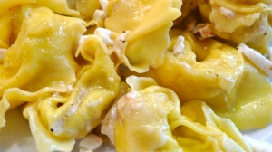 Plated Tortelloni stuffed with Asparagus | ©Tom Palladio Images