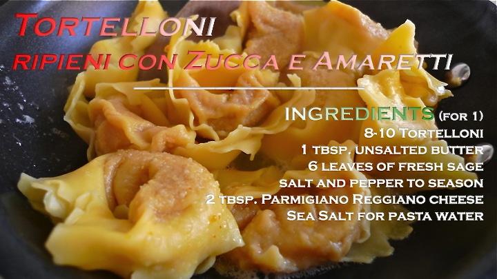 Tortelloni ripieni con Zucca e Amaretti