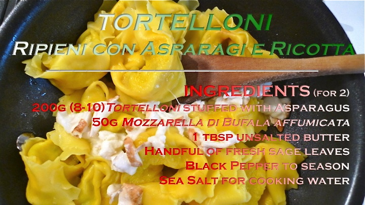 Tortelloni stuffed with As[aragus recipe graphic | ©Tom Palladio Images