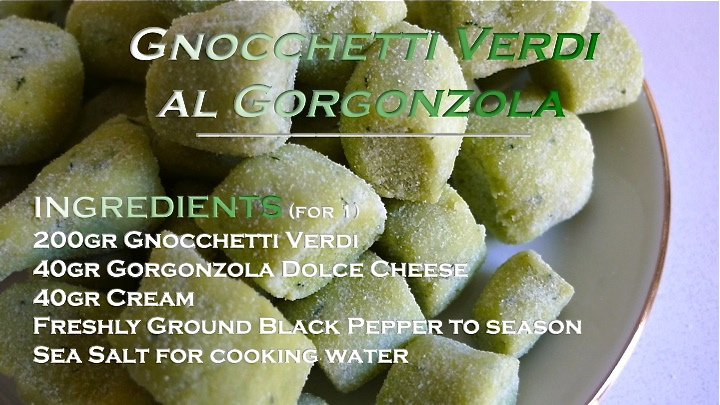 Gnocchetti Verdi al Gorgonzola recipe graphic | ©Tom Palladio Images