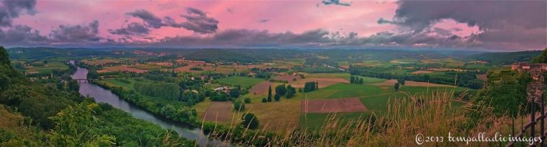 Sunset over Dordogne - Domme, France | ©Tom Palladio Images