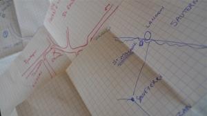 Hand drawn road maps | ©Tom Palladio Images