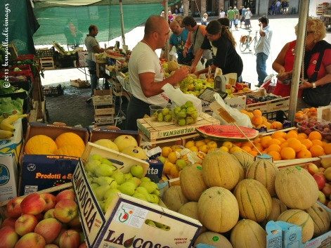 Fresh produce in the Roman Square - Senigallia, Italy | ©Tom Palladio Images