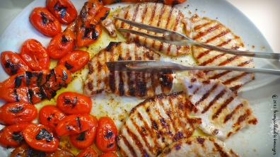 Grilled Pork, Peppers & Pomodorini | ©Tom Palladio Images