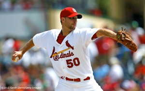 Red October Pizza - Adam Wainwright - ©2012 Sarah Glenn-Getty Images