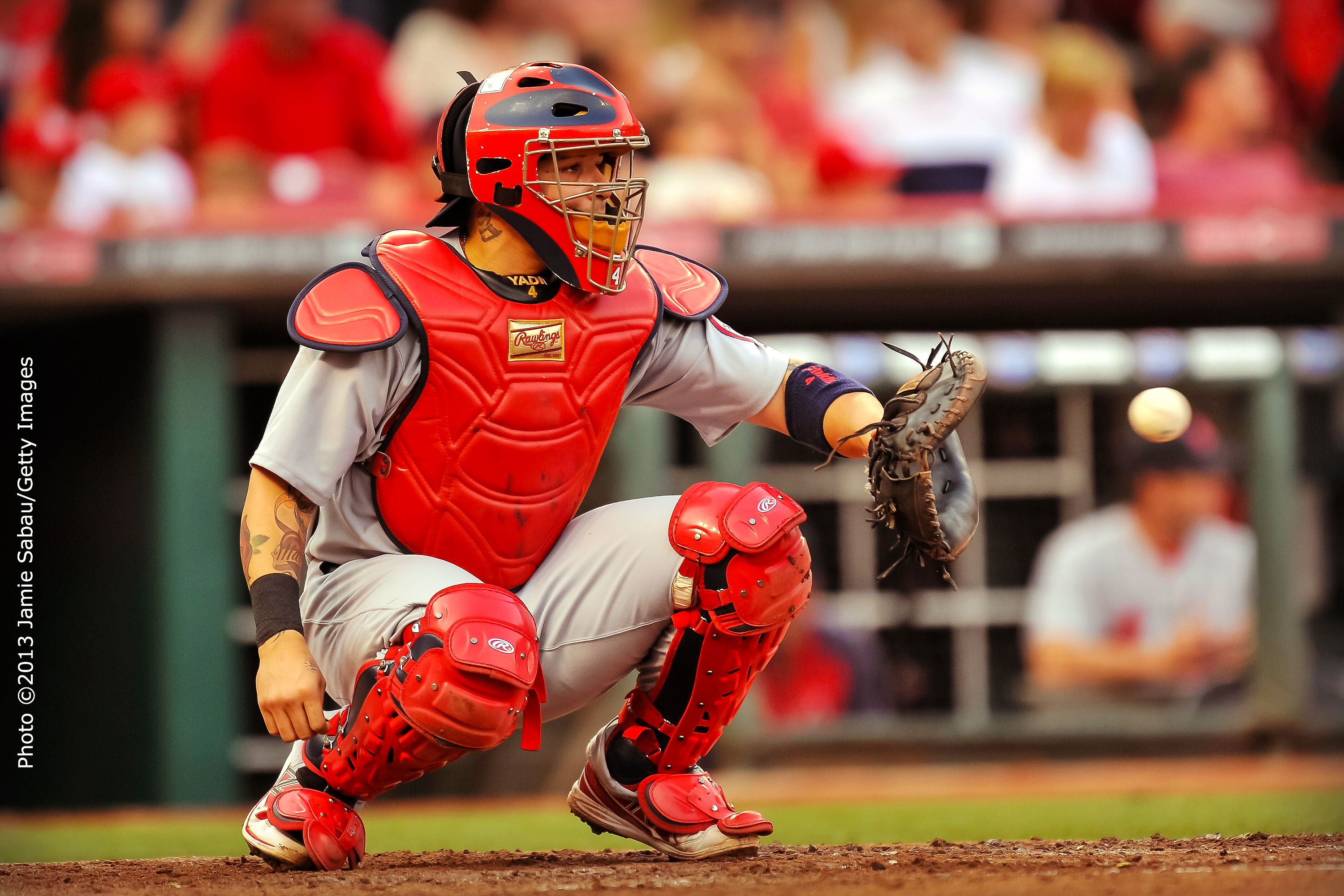 Yadier Molina Catching 2013 Red October Pizza: The...