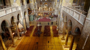 Inside St. Mark's Cathedral, Venice