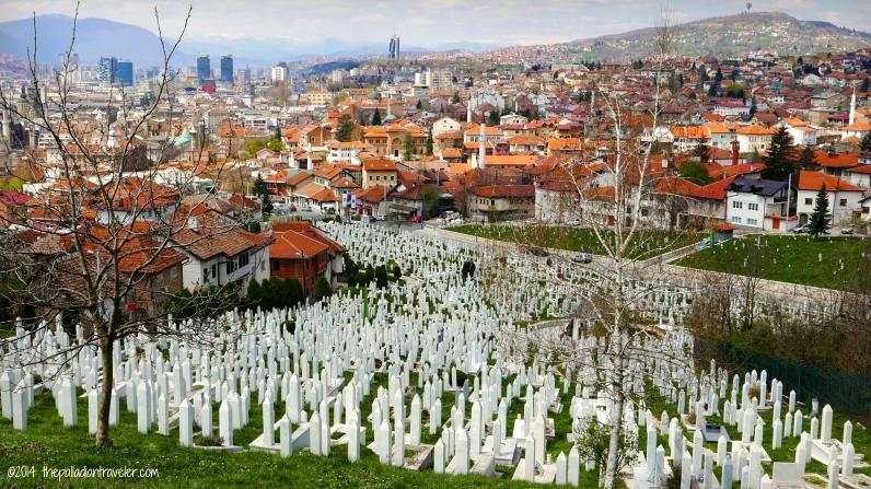 Panoramic view of Sarajevo, Bosnia