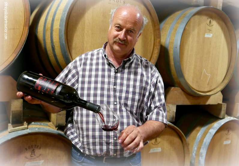 Franco Zanovello in the cantina of his namesake winery
