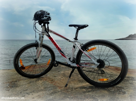Cycling on Korcula, Croatia